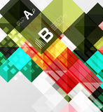 Vector square elements on gray abstract background with infographics. Vector template background for print workflow layout, diagram, number options or web Stock Photography