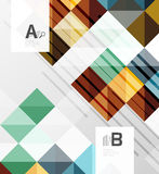 Vector square elements on gray abstract background with infographics. Vector template background for print workflow layout, diagram, number options or web Royalty Free Stock Photo
