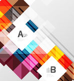 Vector square elements on gray abstract background with infographics. Vector template background for print workflow layout, diagram, number options or web Royalty Free Stock Image