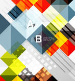 Vector square elements on gray abstract background with infographics. Vector template background for print workflow layout, diagram, number options or web Royalty Free Stock Images