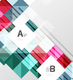 Vector square elements on gray abstract background with infographics. Vector template background for print workflow layout, diagram, number options or web Stock Image