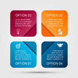 Vector square elements for infographic. Royalty Free Stock Image