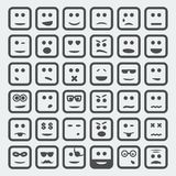 Vector square faces set Royalty Free Stock Photography