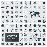 Vector Square Flat Icons Set Royalty Free Stock Photography