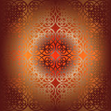 Vector square flower pattern symmetrical Stock Photo