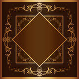 Vector square frame with filigree ornament Stock Photography