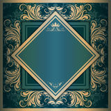 Vector square frame with filigree ornament Royalty Free Stock Image