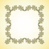 Vector square frame of oak leaves Stock Photo