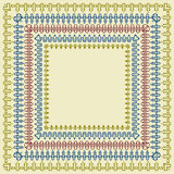 Vector Square Frames. Vector Square Vintage Bright  Frames Stock Photography