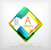 Vector square geometric shaped web design boxes Stock Photography