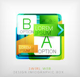 Vector square geometric shaped web design boxes Stock Image