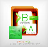 Vector square geometric shaped web design boxes Royalty Free Stock Image