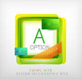 Vector square geometric shaped web design boxes Royalty Free Stock Photography