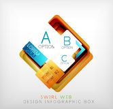 Vector square geometric shaped web design boxes Royalty Free Stock Photos