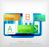 Vector square geometric shaped web design boxes Royalty Free Stock Images