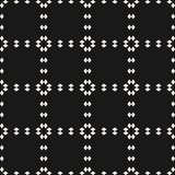 Vector square grid geometric seamless pattern. Repeat design for decor, prints, fabric. Black and white vector geometric seamless pattern. Dark abstract Royalty Free Stock Images