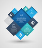 Vector square group with icons number for brochure Royalty Free Stock Photos