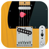 Vector square guitar icon Stock Images