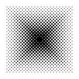 Vector Square halftone geometric shapes, Dot minimal design abstract background Royalty Free Stock Photography