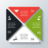 Vector square infographic. Template for cycle diagram, graph, presentation and chart. Business concept with 4 options, parts, steps or processes. Data Royalty Free Stock Images