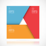 Vector square infographic template in material style. Business concept with 3 steps, parts, options Royalty Free Stock Image