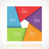 Vector square infographic template. 5 steps Stock Image