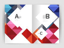Vector square leaflet, business a4 print template Stock Photo