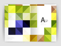 Vector square leaflet, business a4 print template Royalty Free Stock Photos