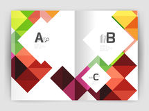 Vector square leaflet, business a4 print template Stock Images