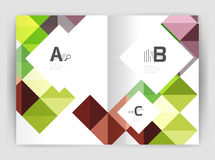 Vector square leaflet, business a4 print template Royalty Free Stock Image