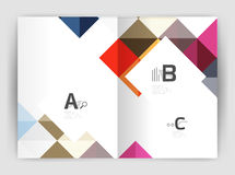 Vector square leaflet, business a4 print template Royalty Free Stock Images