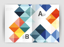Vector square minimalistic abstract background, print template business brochure a4 Stock Images