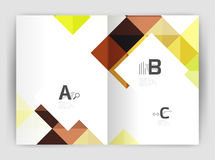 Vector square minimalistic abstract background, print template business brochure a4 Stock Photos