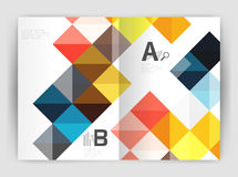 Vector square minimalistic abstract background, print template business brochure a4 Royalty Free Stock Photo