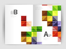 Vector square minimalistic abstract background, print template business brochure a4 Stock Photography