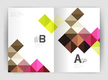 Vector square minimalistic abstract background, print template business brochure a4 Stock Photo