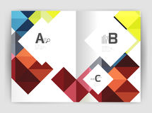 Vector square minimalistic abstract background, print template business brochure a4 Stock Image