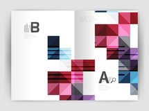 Vector square minimalistic abstract background, print template business brochure a4 Royalty Free Stock Images