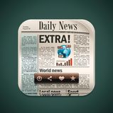Vector square newspaper XXL icon Stock Photography