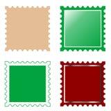 Vector square postage stamp stock illustration