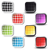 vector Square stickers and square buttons Stock Photography