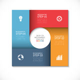 Vector square template for infographics Royalty Free Stock Photography