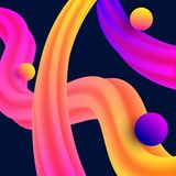 Vector fluid abstract template for social media. royalty free illustration