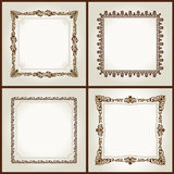 Vector Square vintage frames retro pattern Stock Photo