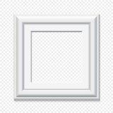 Vector square white frame. Square white frame - realistic vector illustration Royalty Free Stock Image