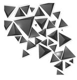 Vector squares. Abstract background black Stock Photo