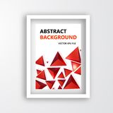 Vector squares. Abstract background red Royalty Free Stock Images