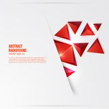 Vector squares. Abstract background red Royalty Free Stock Image