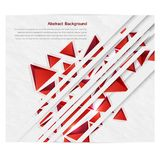Vector squares. Abstract background red. Vector triangle. Abstract background card and shadow royalty free illustration