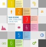 Vector squares background design illustration / steps template Royalty Free Stock Image